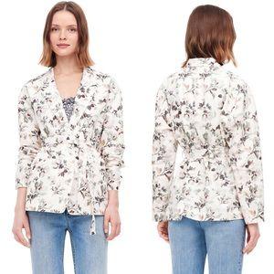 NEW • Rebecca Taylor • Sofia Floral Jacket Vanilla